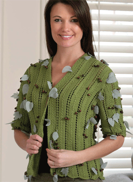 Learn how to insert a stitch pattern into any pattern of your choice with The Knitter's New Template, plus get the free Soleil ZigZag Jacket pattern.