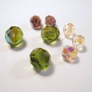 crystal and glass beads