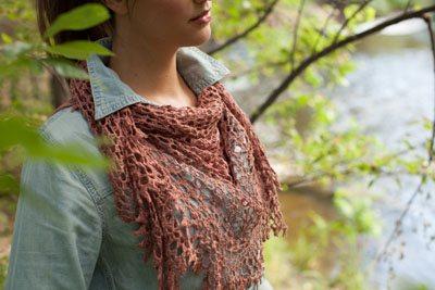 morning webs shawl side