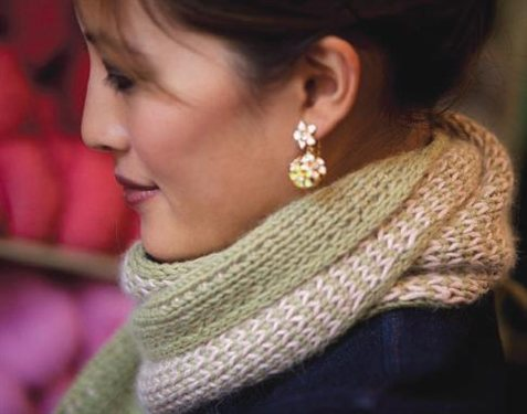 (Almost) Double-Knit Scarf from Knitting Daily TV Episode 412 - Interweave