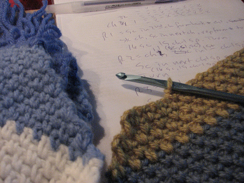 Free Crochet Simple Striped Scarf Pattern Interweave