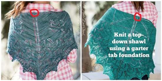 Top-down triangle lace shawls