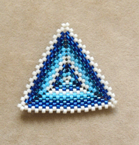 Finished Peyote Stitch Triangle