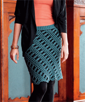 Tunisian Crochet Skirt