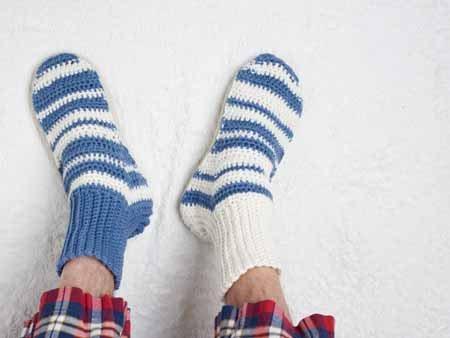 Simple Crochet Slippers