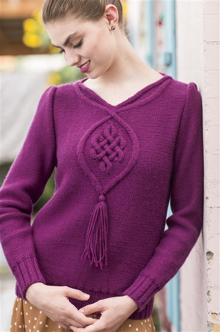 siobhan blouse knitted sweater pattern