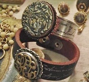 Using Stamps In Jewelry Making Real And Faux Leather