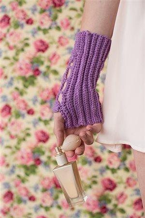 Lavender Wristers ribbing