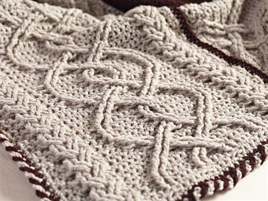 Unexpected Afghans: Crochet Cable Afghan