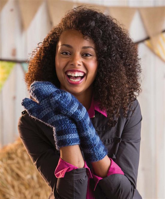 3 Skeins or Less: Crochet Mittens