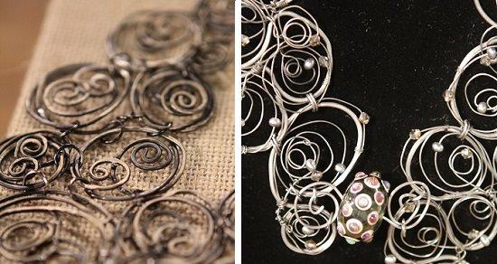 wire doodles necklaces by Erin Prais-Hintz