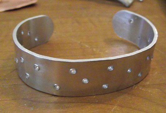 pierced metal cuff