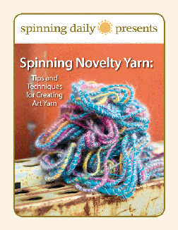 Learn everything you need to know about spinning novelty yarn in this FREE spinning eBook about tips and techniques for creating art yarn from Interweave.