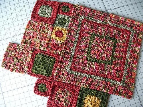 Blocked Babette Crochet Blanket Squares: How to Block Crochet