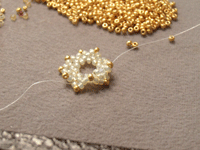 Making Beaded Necklace Step 4