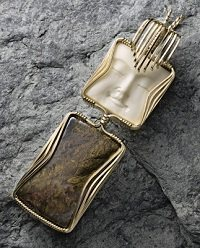 Elaine Yamada's square-wire-wrapped Totem pendant