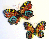 brick stitch butterflies