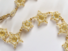 Star Beaded Necklace Zoomed In