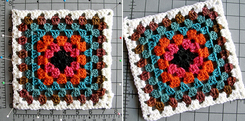 How to Block Crochet Motif Squares