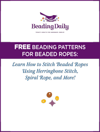 Learn fun beading techniques from the free Beading Patterns for Beaded Ropes eBook.