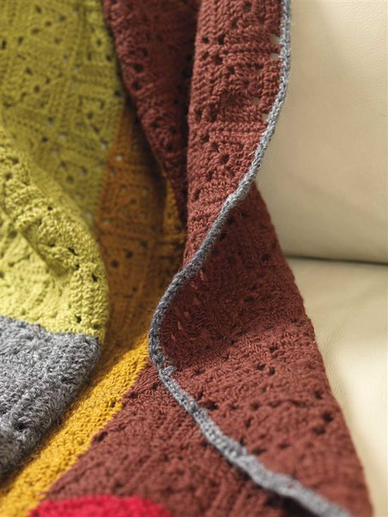 Unexpected Afghans: Colorblock Corchet Afghan