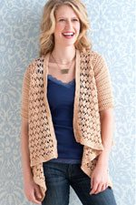 Use different crochet stitches to save yarn, such as with with the Float Cardigan project by Robyn Chachula.