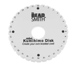 Foam kumihimo disk that's perfect for beginners.