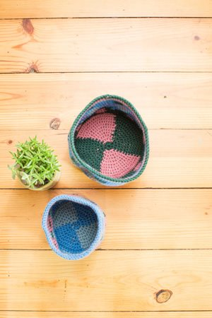 Garden Plot Baskets Inside