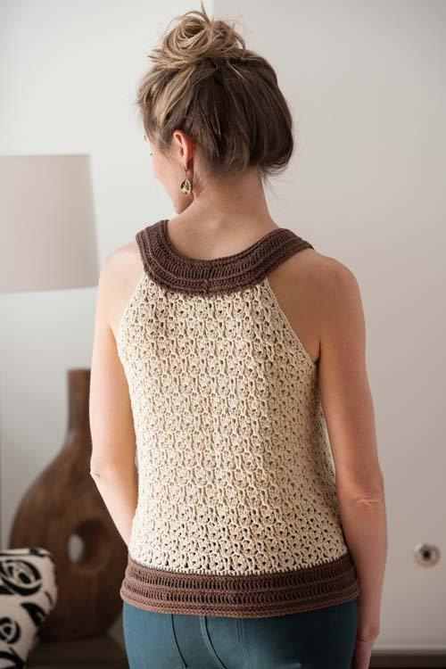 Blueprint Crochet Sweaters: Lace Crocheted Tank Top