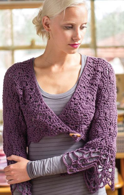 Colorful Crochet Lace: Crochet Shrug