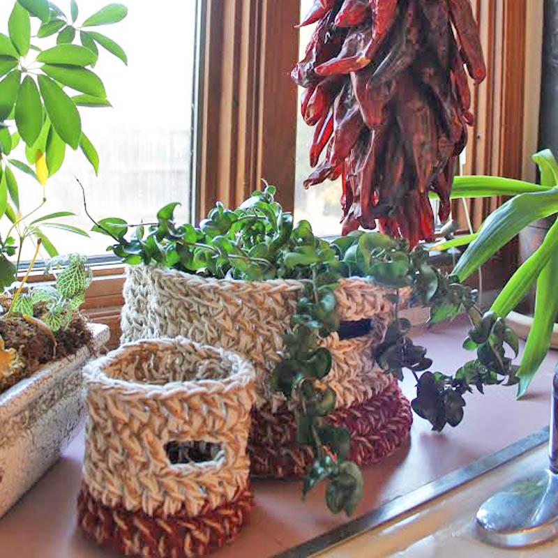 Using Crochet Baskets for Your Indoor Garden or Plants