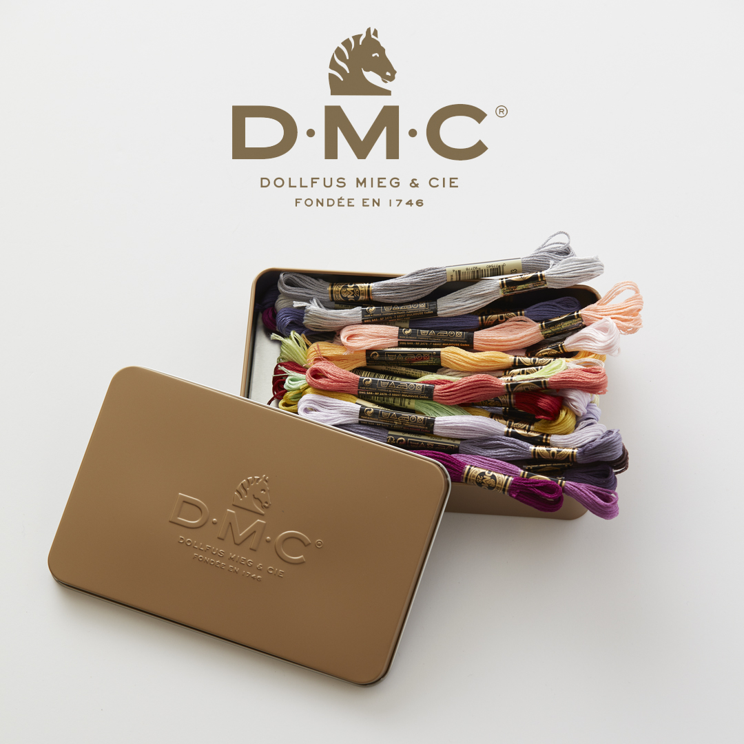DMC Embroidery Floss and embossed tin