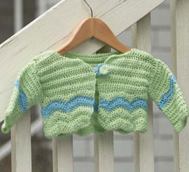 Free Crochet Patterns for Beautiful Handmade Gifts, such as this baby cardigan pattern.