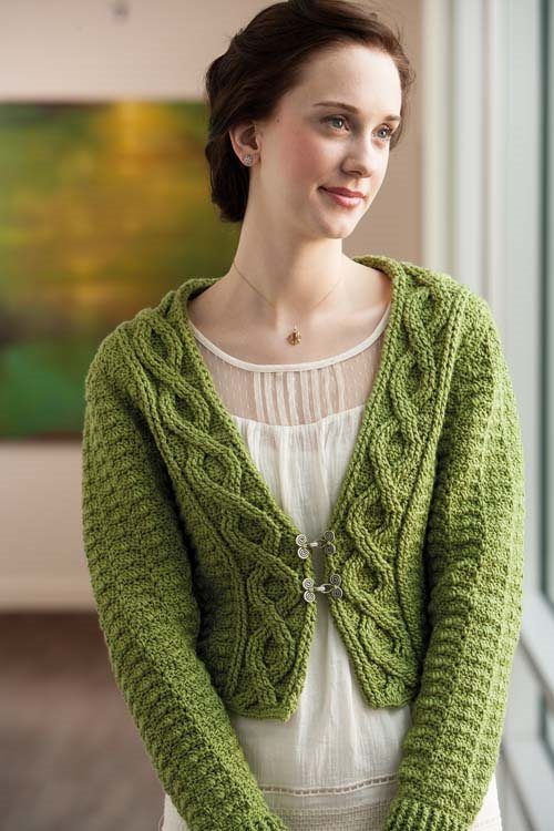 Crochet Cable Shrug