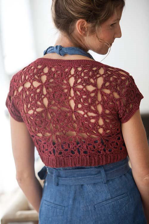Blueprint Crochet Sweaters: Motif Crocheted Shrug
