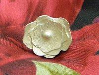 sterling silver soldered flower ring
