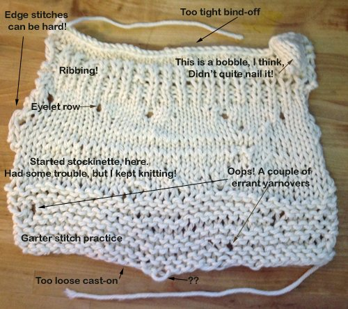 Beginner Knitting Projects : My first knitting project interweave
