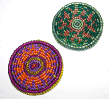 beaded mandalas