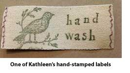 Handmade care label