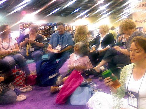 Crochet Gathering on TNNA Show Floor