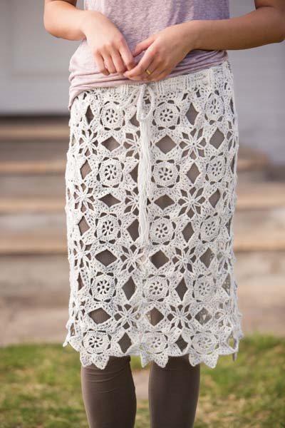 Crochet So Lovely: Crochet Motif Skirt