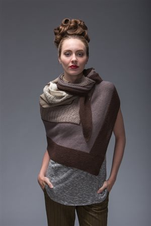 Beautiful Carrara knit shawl pattern