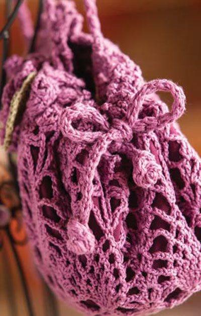 Colorful Crochet Lace: Doily Crochet Bag