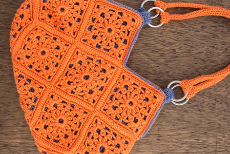 Delia Bag: Crochet Lace Motif Bag