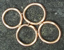 Rings with copper wire solder set and ready to go.