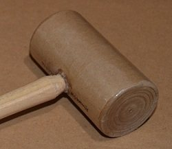 Much gentler than a rawhide mallet, one of Lexi's current favorite jewelry hammers is a paper mallet.