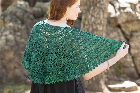 Crochet Ever After: Broomstick Lace Crochet Shawl
