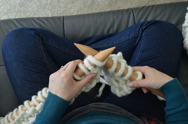 You'll use huge knitting needles in the size 50s to create quick and fun chunky knitting projects.