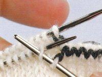 Kitchener stitch step 3 and 4