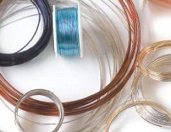 brass silver copper and colored wire